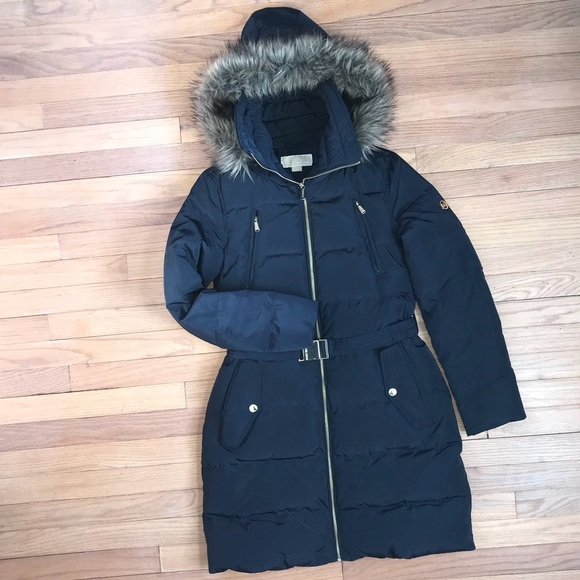 d01db2bf7 Michael Kors Down Coat W/ Chest Zippers and Belt